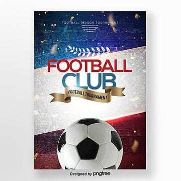 modern fashion football club publicity poster Template