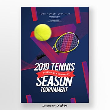 personality fashion modern simple tennis publicity poster Template