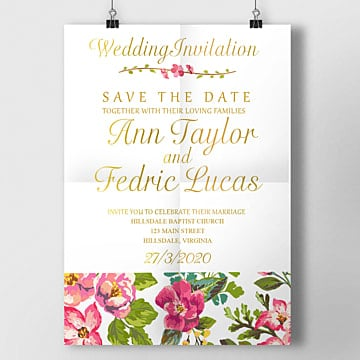 Wedding Invitation Templates Png Vector PSD And Clipart With