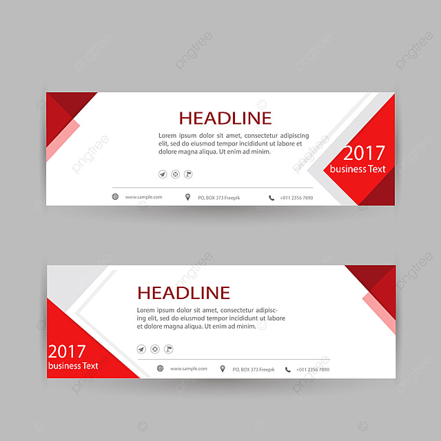 Red Office Banner Business Template