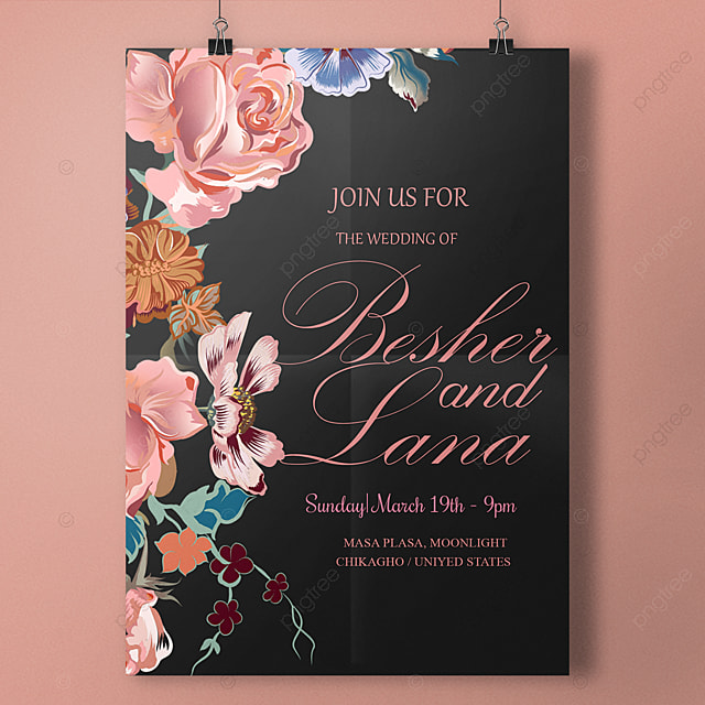 Love Forever Editable Wedding Invitation Template Template For Free