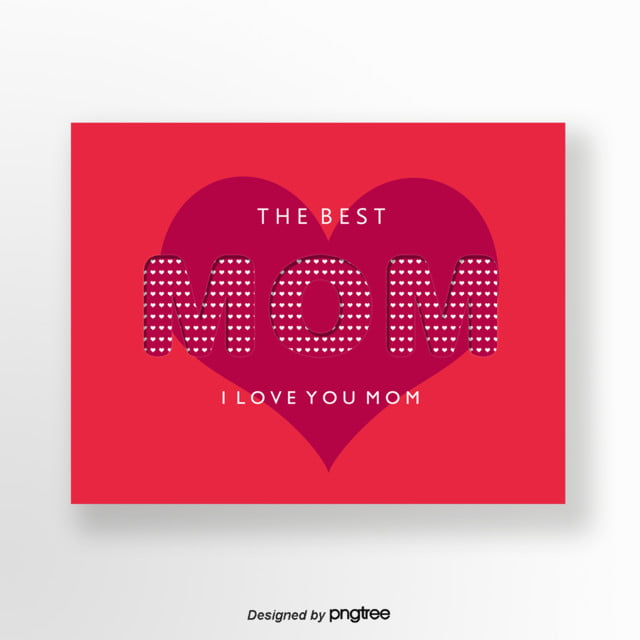Pink Mothers Day Flyer Template For Free Download On Pngtree: Pink Heart-shaped Mothers Day Greeting Card Template