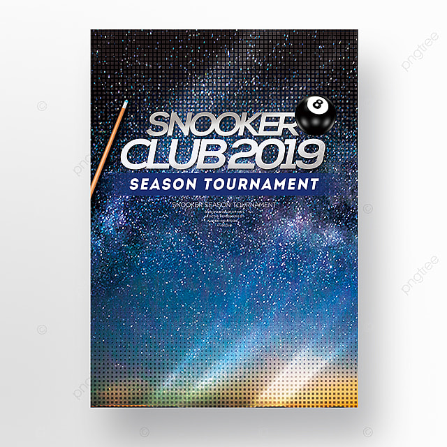 simple fashion snooker club competition poster template