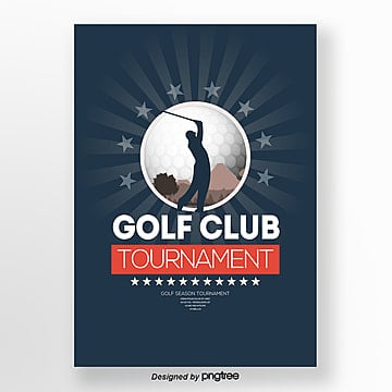 Modern Simple Fashion Golf Club Competition Publicity Poster Template