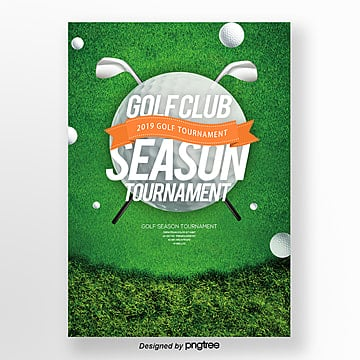 Simple Fashion Golf Club Publicity Poster Template
