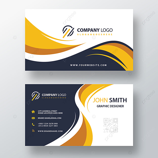 beautiful modern yellow business card template for free
