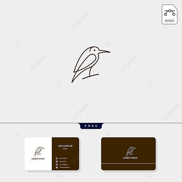 Fliegender Vogel über Logo Template Illustration Und