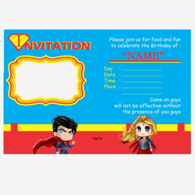 Superman Invitation Card Template For Free Download On Pngtree