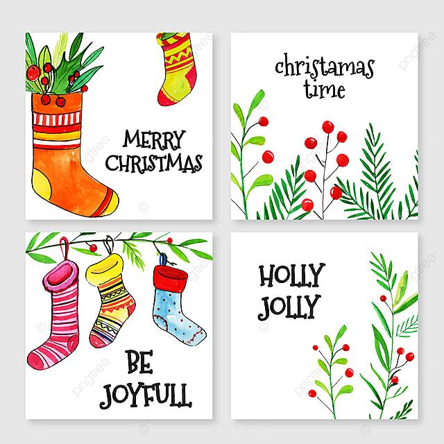 Frohe Weihnachten Verschiedene Sprachen Kostenlos.Aquarell Frohe Weihnachten Karten Vorlage Zum Kostenlosen