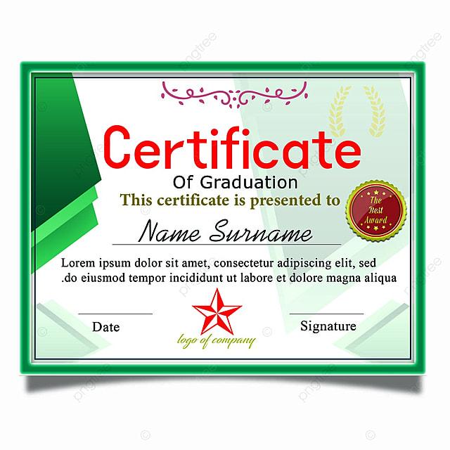 Elegant Certificate Of Graduation Template Template For