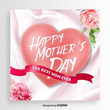 Aesthetic Fashion Romantic Mothers Day Happy Promotion Card Template