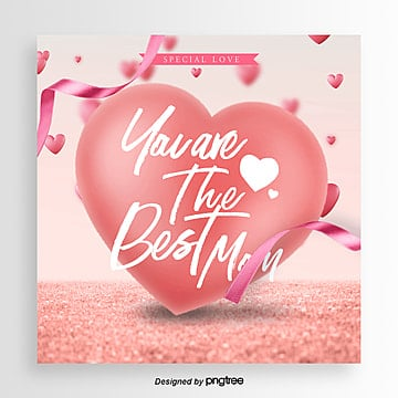best mothers day happy promotion card Template