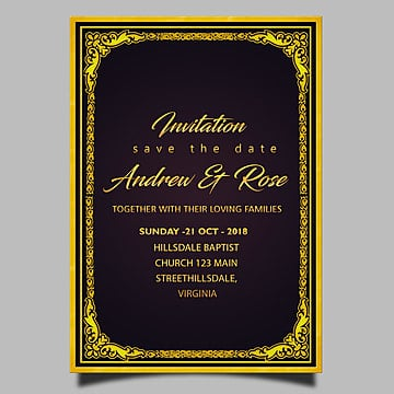 Floral Border Wedding Invitation Png Images Vector And Psd