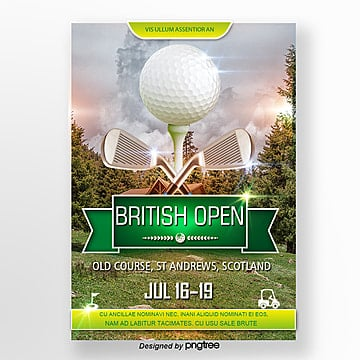 Golf Theme Poster Template