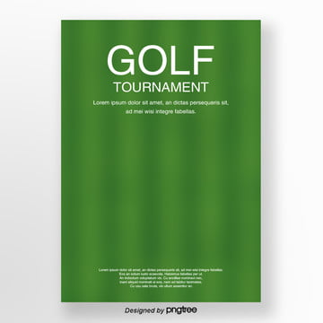 Green striped lawn Golf posters Template