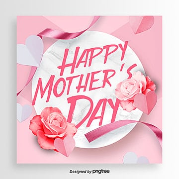 happy mothers day  fashionable and aesthetic festival cards Template