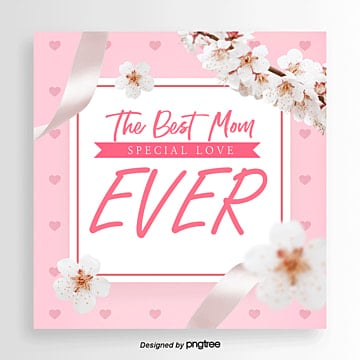 happy mothers day promotion card Template