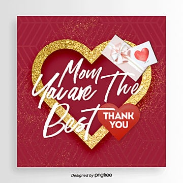 Luxury Fashion Best Mothers Day Promotional Card, Card, Propaganda, Thanksgiving PNG and PSD