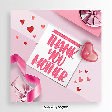 romantic fashion simple mothers day happy card design Template