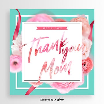 Simple Romantic and Aesthetic Mothers Day Festival Card Template