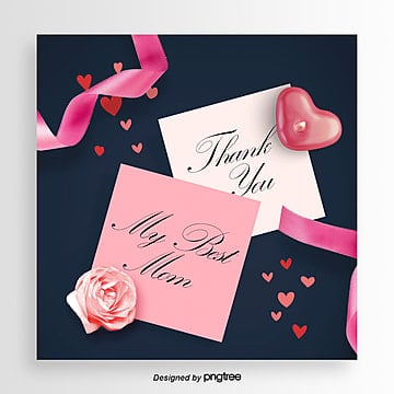 Thanksgiving Mothers Day promotional card, Ribbon, Card, Propaganda PNG and PSD