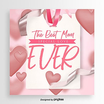 The Fresh and Fashionable Best Mothers Day Card, Ribbon, Card, Propaganda PNG and PSD