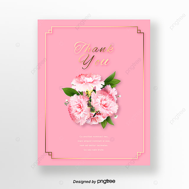 Pink Mothers Day Flyer Template For Free Download On Pngtree: Simple Pink Bouquet Warm Teachers Day Thanksgiving Card