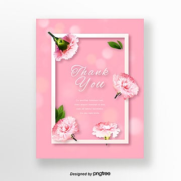 pink simple warm teachers day thanksgiving card Template