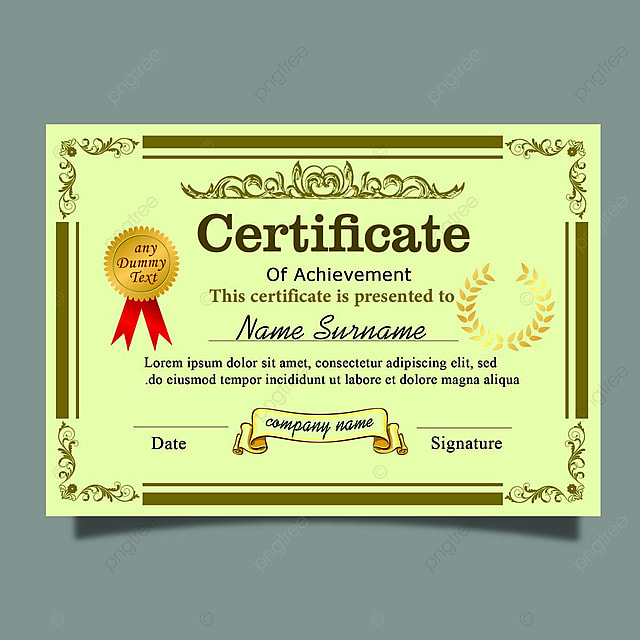 Elegant Marriage Certificate Template Golden Edition: Elegant Horizontal Royal Certificate Template With Gold