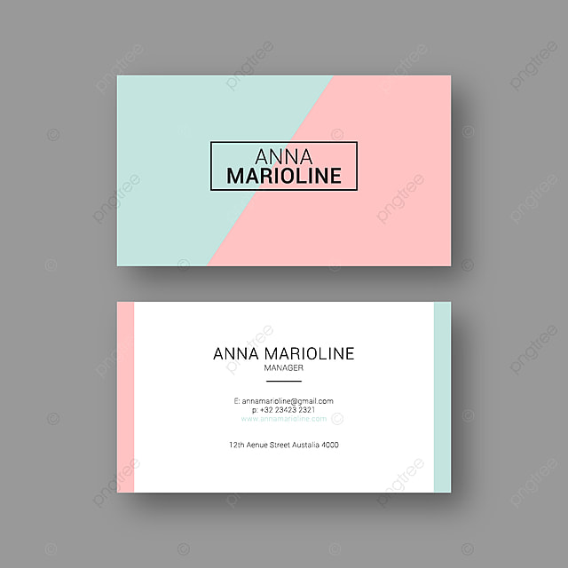 Pink Business Card Template Template for Free Download on Pngtree
