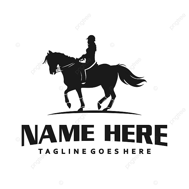Women S Logo Riding A Horse Template for Free Download on
