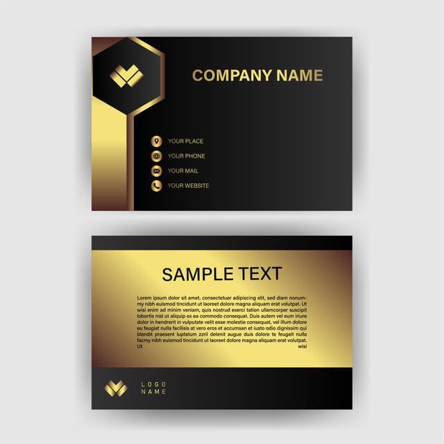 Visitenkarte Template Mit Gold Farbverlauf Luxus Vorlage Zum