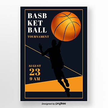 Simple retro basketball game sports creative posters Template
