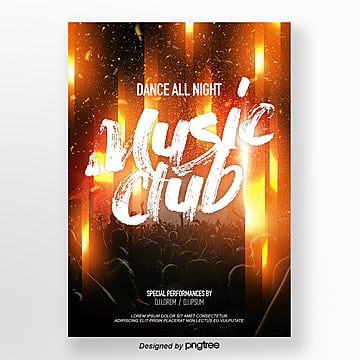 abstract fashion brilliant line music party theme poster Template