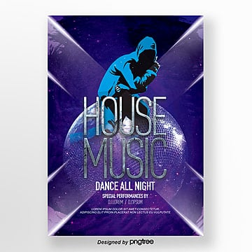 Abstract Luminous Lines Fashionable Music Theme Poster, Theme, Club, Luminescence PNG and PSD