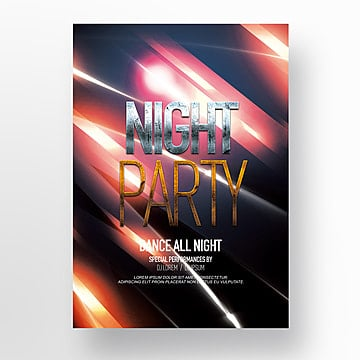 fashion cool nightclub bar party theme poster Template