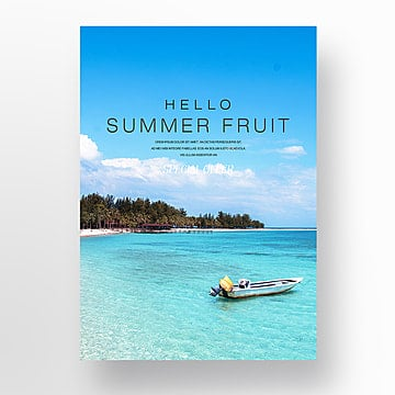 fashion simple summer fresh fruit mango theme poster Template