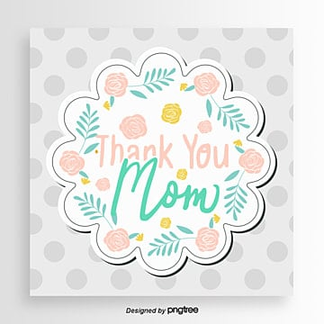 Fresh Point Mothers Day Card, Card, Mom, Soft Pale PNG and PSD