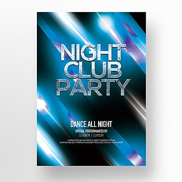 modern fashion fashion luminous line night club party poster Template