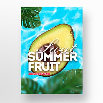 natural fresh summer pineapple fruit theme poster Template