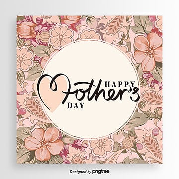 pink retro mothers day card Template