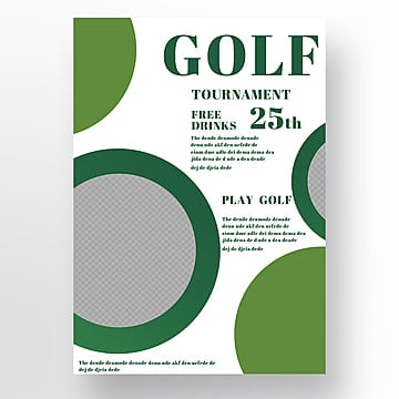 Simple Business Style Golf Poster Template