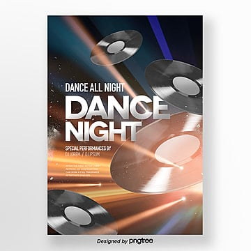 brilliant lighting effect music party theme poster Template