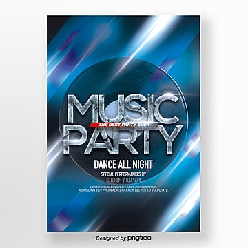 brilliant modern fashion lighting effect brilliant party theme poster Template