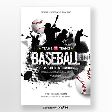 fashion baseball sports competition poster Template