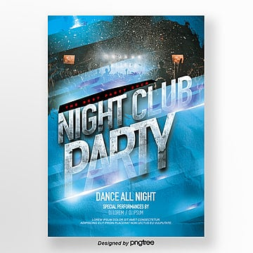 fashion cool flashlight effect flashlight party theme poster Template