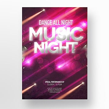 Fashion cool flashlight effect flashlight party theme Poster, Theme, Club, Nightclub PNG and PSD