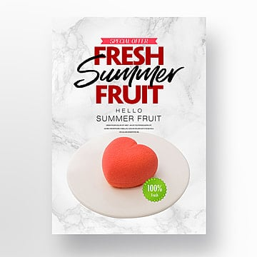 fashion fresh simple summer fruit theme poster Template