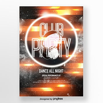 fashion night club brilliant lights brilliant party theme poster Template