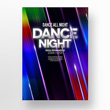 Fashion Pop Lighting Flash Party Poster Template